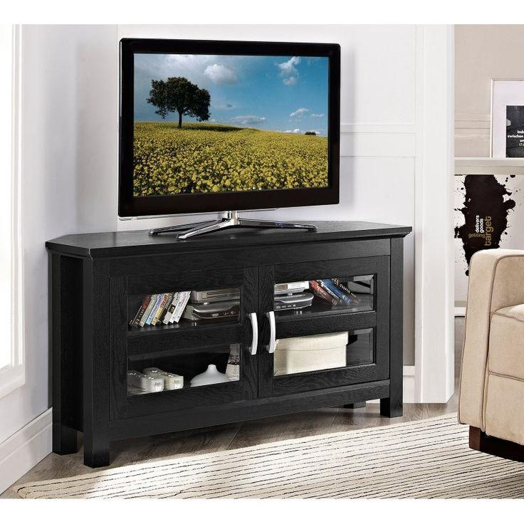 Best 25+ Black Corner Tv Stand Ideas On Pinterest | Tv Stand In Most Recently Released Black Wood Corner Tv Stands (View 12 of 20)