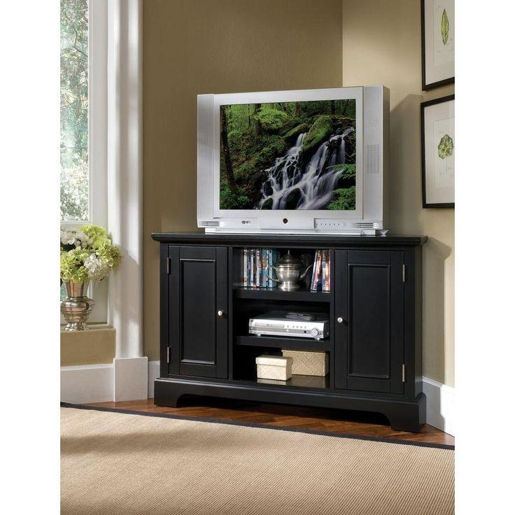 Best 25+ Black Corner Tv Stand Ideas On Pinterest | Tv Stand Pertaining To 2017 40 Inch Corner Tv Stands (View 9 of 20)