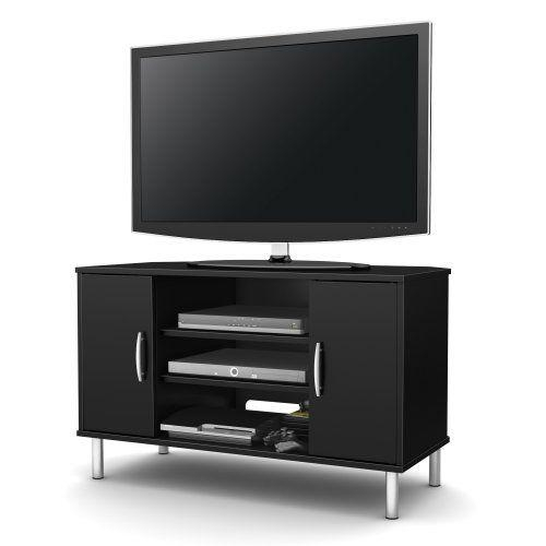 Best 25+ Black Corner Tv Stand Ideas On Pinterest | Tv Stand Pertaining To Current Black Corner Tv Cabinets With Glass Doors (View 11 of 20)