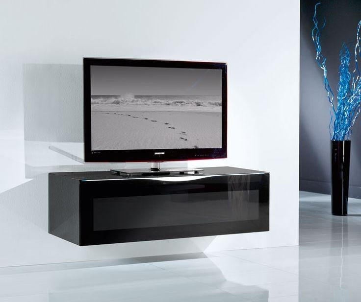 Best 25+ Black Glass Tv Stand Ideas On Pinterest | Lcd Tv Stand In Most Popular Glass Tv Cabinets (View 1 of 20)