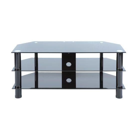 Best 25+ Black Glass Tv Stand Ideas On Pinterest | Lcd Tv Stand Inside Latest Smoked Glass Tv Stands (Image 5 of 20)