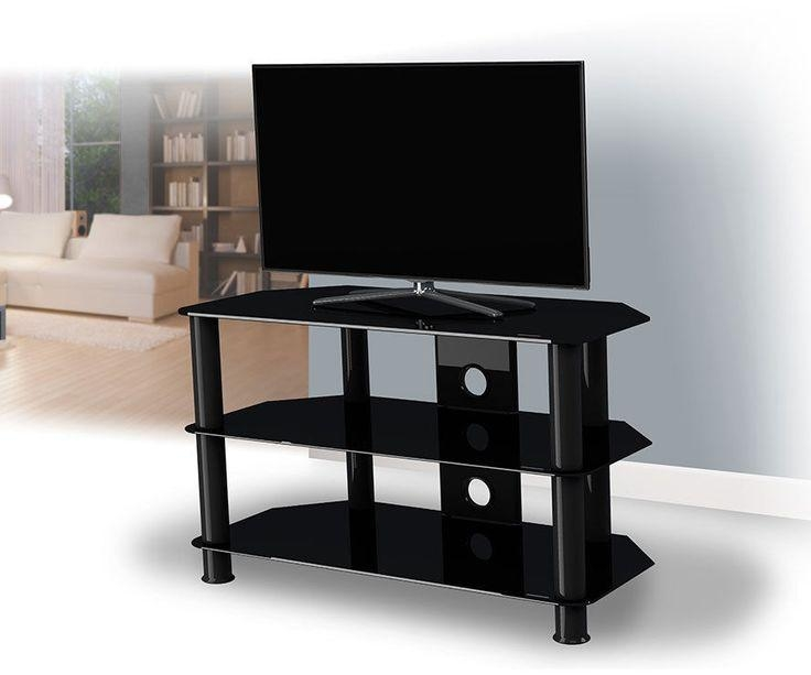 Best 25+ Black Glass Tv Stand Ideas On Pinterest | Lcd Tv Stand Throughout Current Glass Tv Cabinets (View 18 of 20)