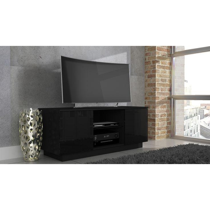 Best 25+ Black Gloss Tv Unit Ideas On Pinterest | White Gloss Tv For Most Recently Released Tv Units Black (Image 2 of 20)