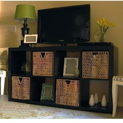 Best 25+ Black Tv Stand Ideas On Pinterest | Ikea Tv Stand, Ikea Throughout Most Recently Released Tv Stands With Storage Baskets (Image 3 of 20)