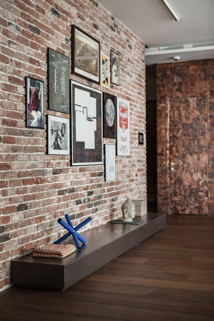 Best 25+ Brick Wall Decor Ideas On Pinterest | Rustic Industrial Throughout Hanging Wall Art For Brick Wall (Image 4 of 20)