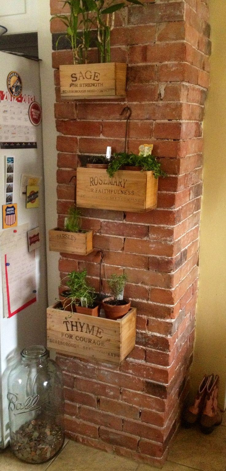 Best 25+ Brick Wall Decor Ideas On Pinterest | Rustic Industrial Within Hanging Wall Art For Brick Wall (Image 6 of 20)