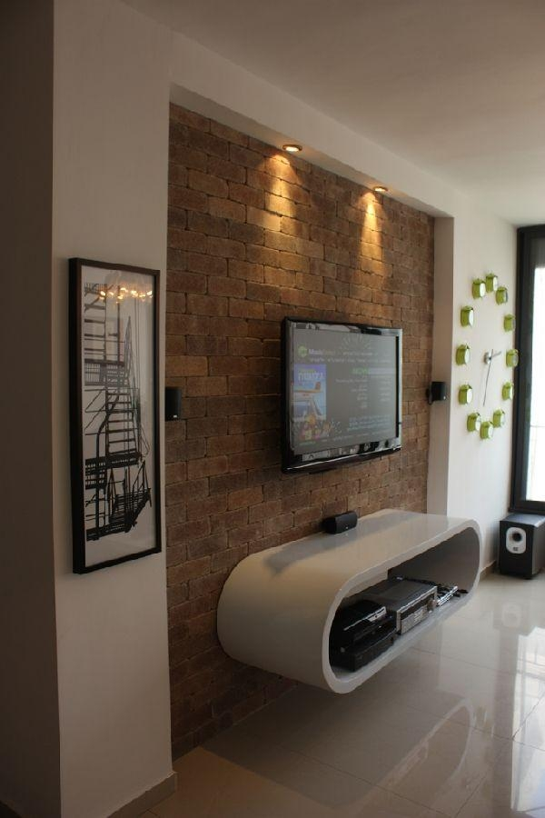 Best 25+ Brick Wall Tv Ideas On Pinterest | Media Wall Unit, Built Regarding Most Popular On The Wall Tv Units (Image 3 of 20)