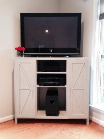 Best 25+ Corner Media Cabinet Ideas On Pinterest | Corner Regarding Most Popular Corner Tv Cabinets For Flat Screens With Doors (View 20 of 20)