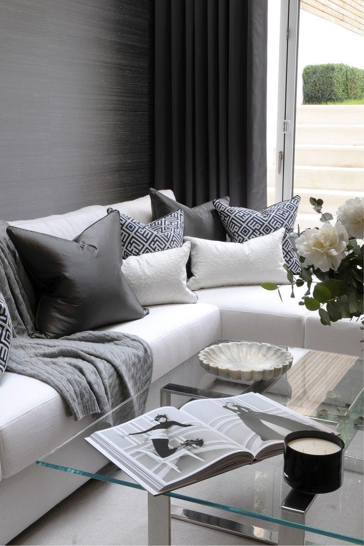 Best 25+ Corner Sofa Design Ideas On Pinterest | Grey Corner Sofa Throughout White And Black Sofas (Image 7 of 21)