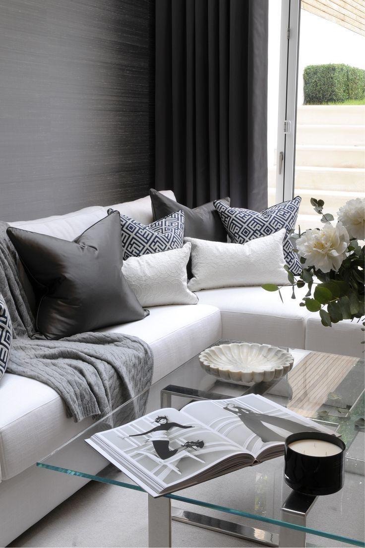 Best 25+ Corner Sofa Design Ideas On Pinterest | Grey Corner Sofa Throughout White And Black Sofas (Image 7 of 21)