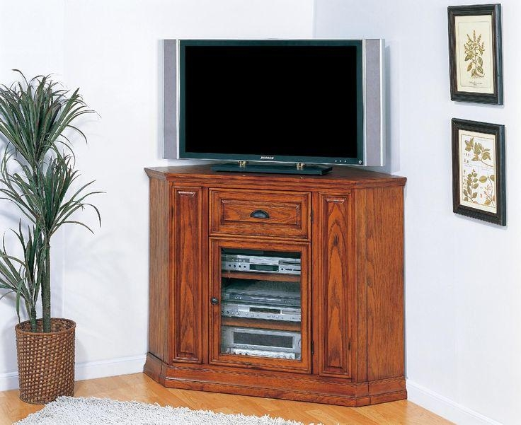 Best 25+ Corner Tv Cabinets Ideas On Pinterest | Corner Tv, Corner Within Newest Oak Tv Cabinets For Flat Screens With Doors (View 5 of 20)