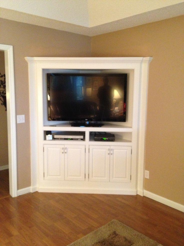 Best 25+ Corner Tv Cabinets Ideas On Pinterest | Tv Cabinet Design Regarding 2018 Tv Stands Rounded Corners (Image 2 of 20)