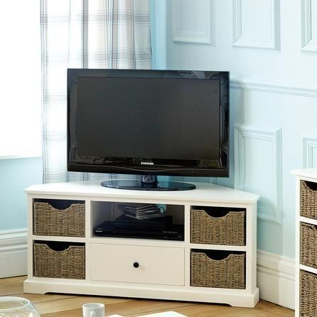 Best 25+ Corner Tv Stand Ideas Ideas On Pinterest | Tv Stand Pertaining To Most Recently Released Tv Stands With Storage Baskets (Image 5 of 20)
