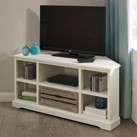 Featured Image of White Corner Tv Cabinets