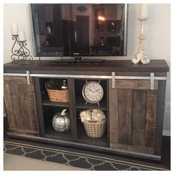 Best 25+ Dark Wood Tv Stand Ideas On Pinterest | Tvs For Dens Intended For Most Popular White Rustic Tv Stands (View 16 of 20)