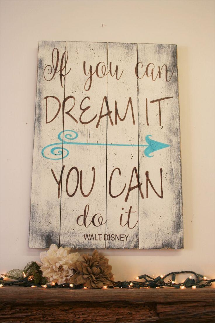 Best 25+ Disney Wall Art Ideas On Pinterest | Disney Decals Pertaining To Inspirational Wall Art For Girls (Image 3 of 20)