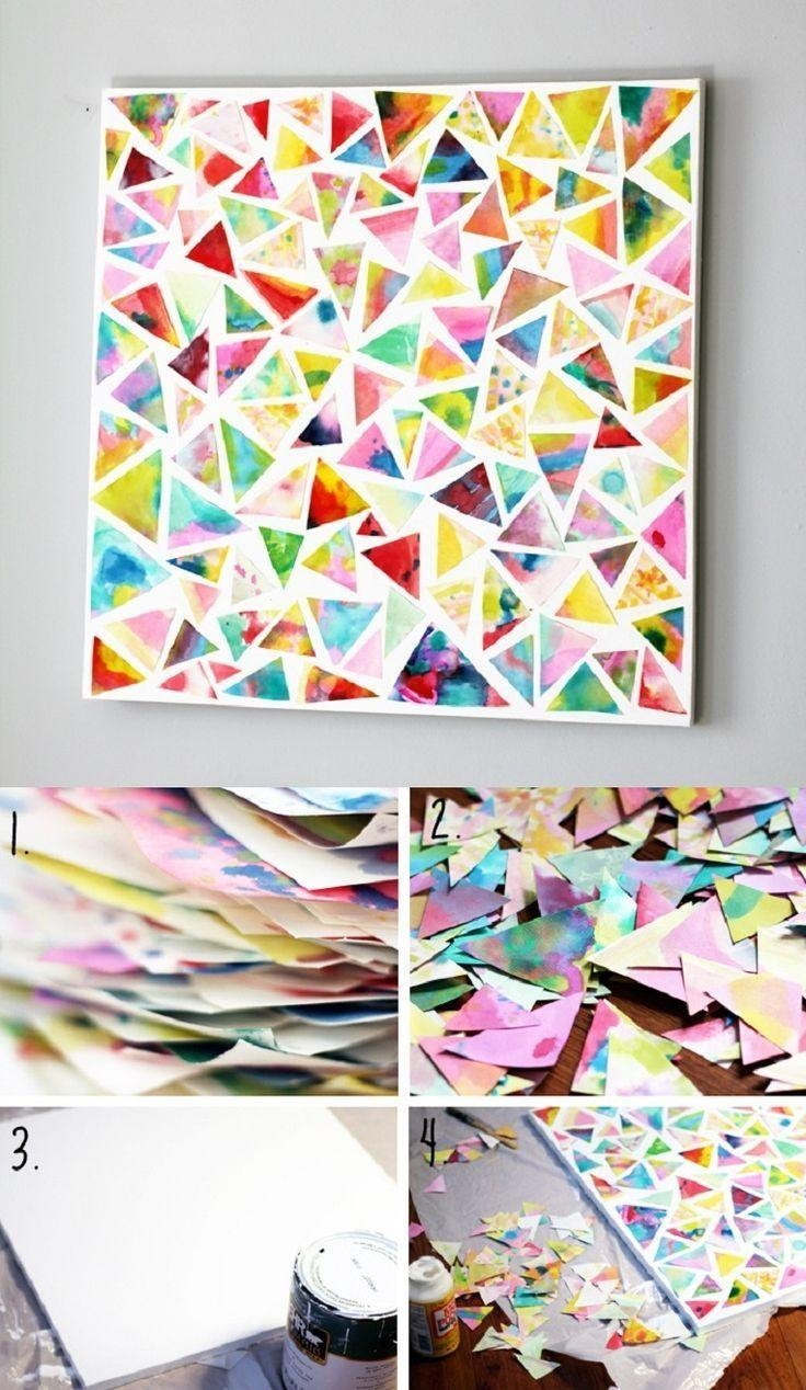 Best 25+ Diy Art Projects Ideas On Pinterest | Easy Art, Spray Within Diy Mosaic Wall Art (Image 5 of 20)