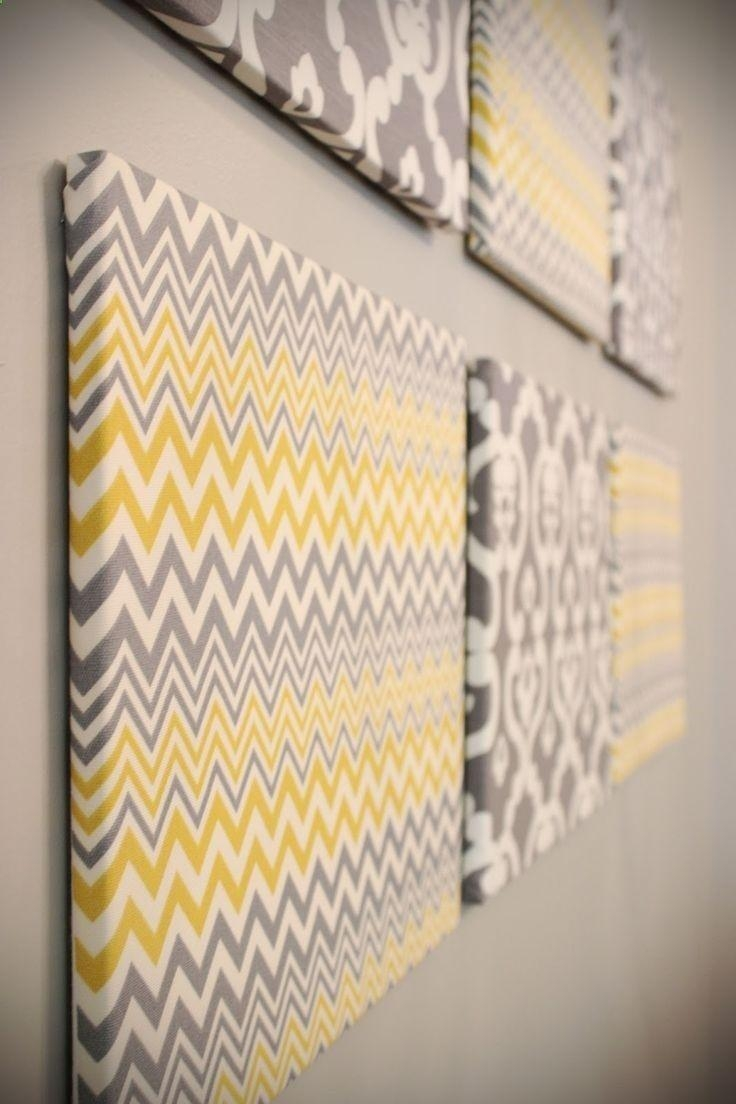 Best 25+ Fabric Covered Canvas Ideas On Pinterest | Fabric Wall Within Styrofoam Wall Art (Image 5 of 20)