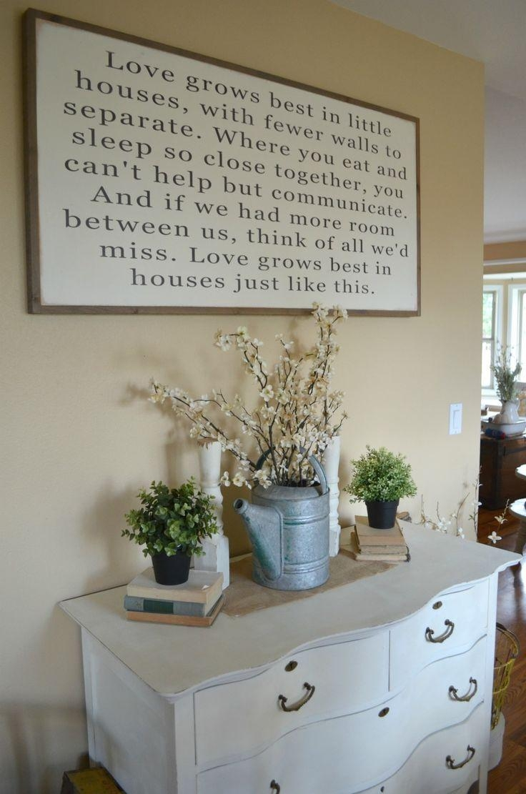 Best 25+ Farmhouse Dining Rooms Ideas On Pinterest | Farmhouse Intended For Formal Dining Room Wall Art (Image 6 of 20)
