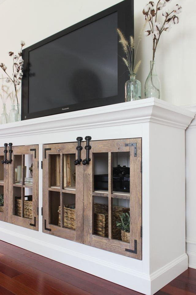 Best 25+ Farmhouse Media Cabinets Ideas On Pinterest | White Media Inside Most Up To Date White Rustic Tv Stands (View 15 of 20)