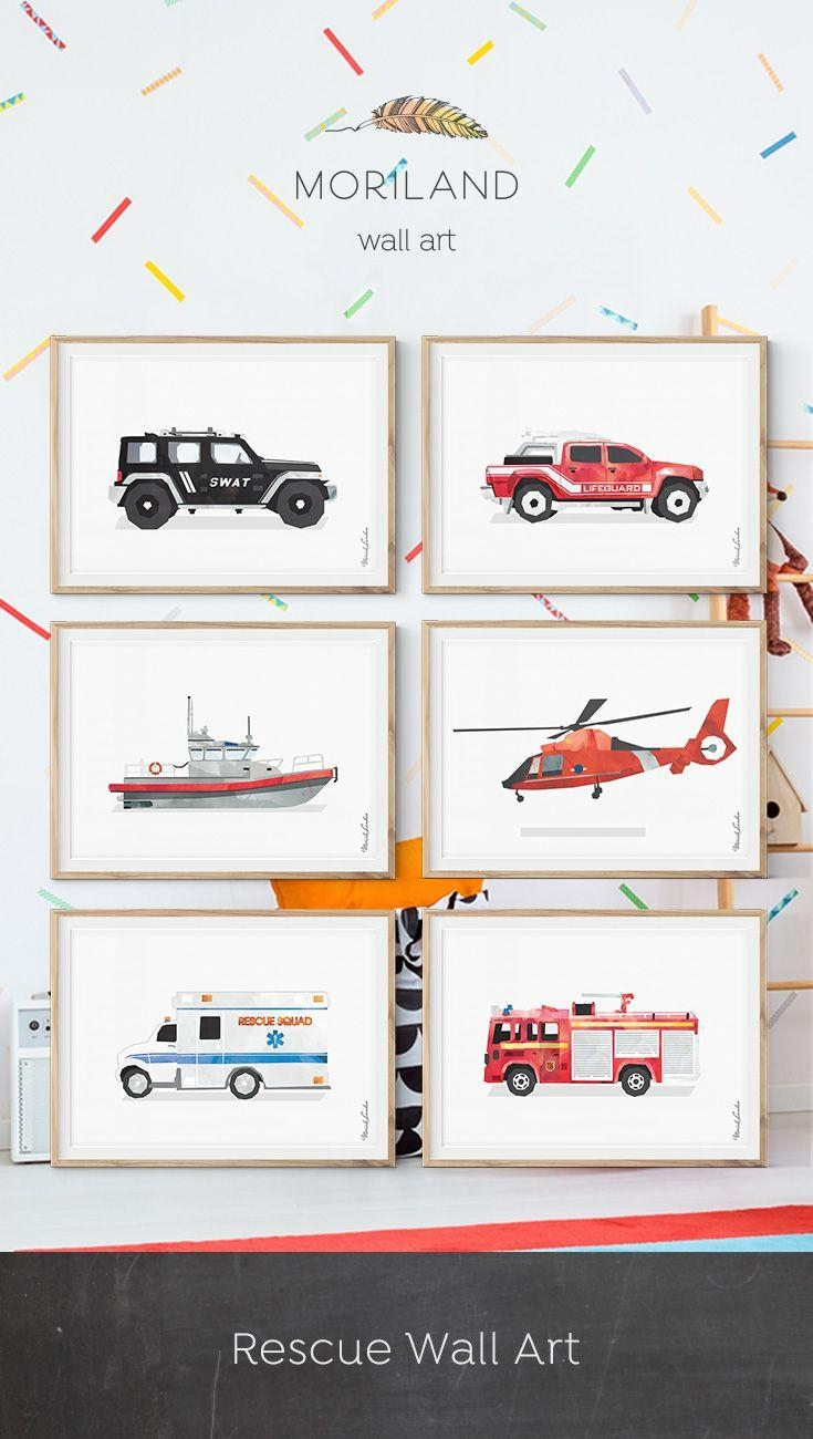 Best 25+ Fire Truck Room Ideas On Pinterest | Truck Bedroom Throughout Fire Truck Wall Art (Image 4 of 20)