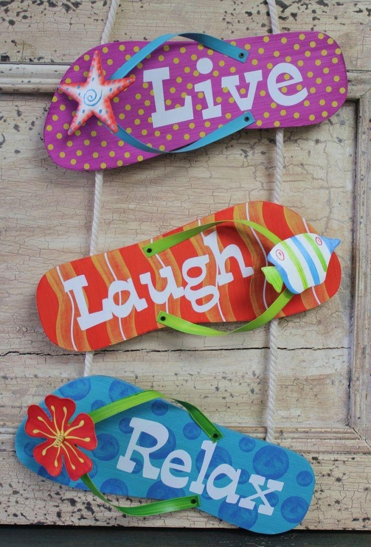 Best 25+ Flip Flop Decorations Ideas On Pinterest | Flip Flop Throughout Flip Flop Wall Art (Image 4 of 20)