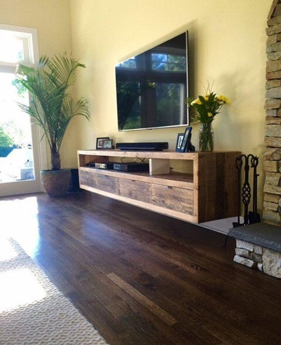 Best 25+ Floating Tv Console Ideas On Pinterest | Floating Tv Regarding Newest Wood Tv Floor Stands (View 16 of 20)