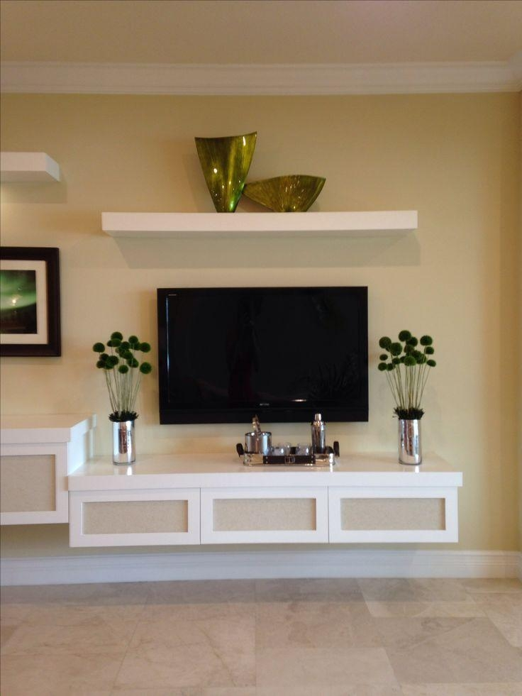 Best 25+ Floating Tv Stand Ideas On Pinterest | Tv Wall Shelves In Most Current Floating Glass Tv Stands (Image 3 of 20)