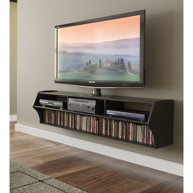 Best 25+ Floating Tv Stand Ideas On Pinterest | Tv Wall Shelves Regarding 2018 Solid Wood Black Tv Stands (Image 10 of 20)