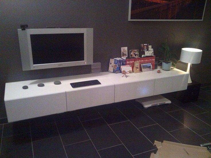 Best 25+ Floating Tv Unit Ideas On Pinterest | Floating Tv Console In Most Up To Date Wall Mounted Tv Cabinet Ikea (View 12 of 20)