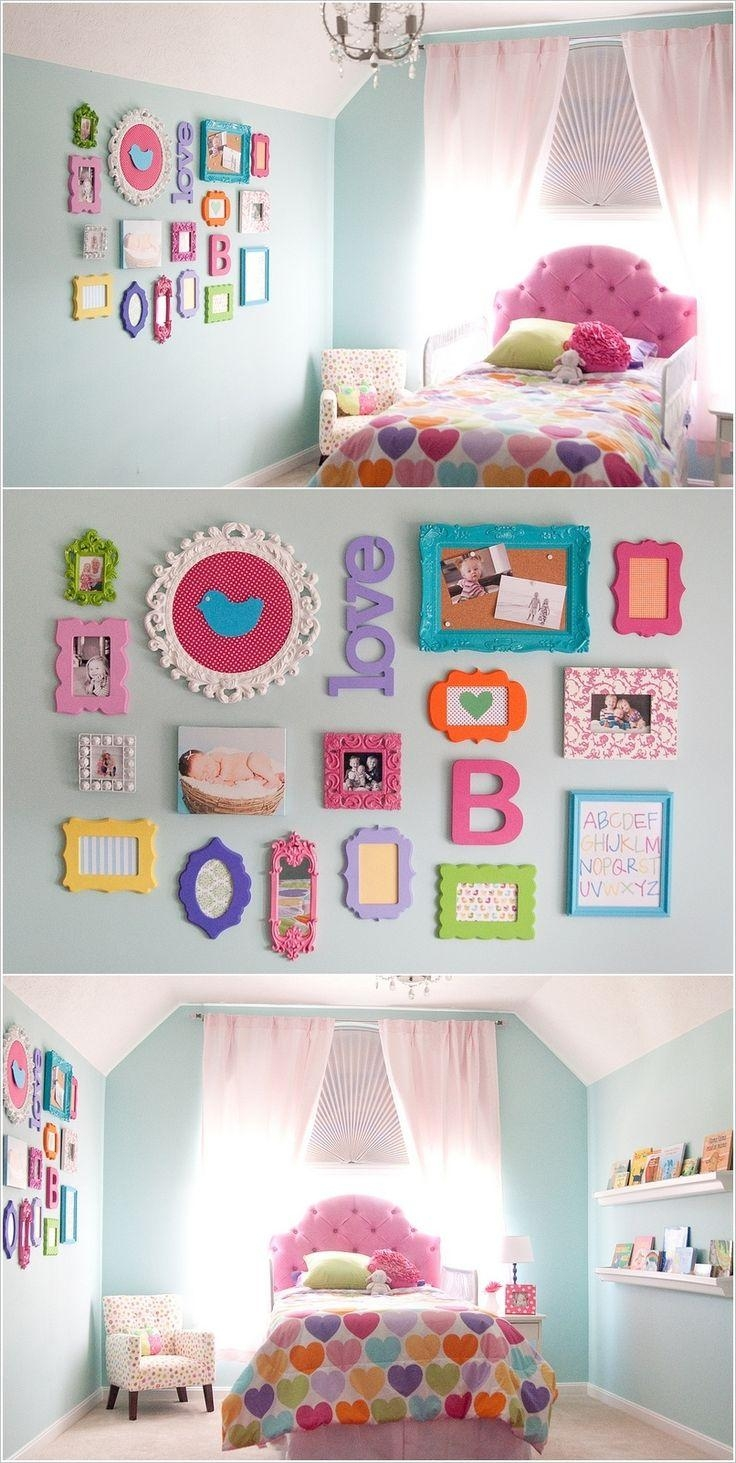 Best 25+ Girl Wall Decor Ideas On Pinterest | Girls Room Paint For Wall Art For Little Girl Room (Photo 1 of 20)