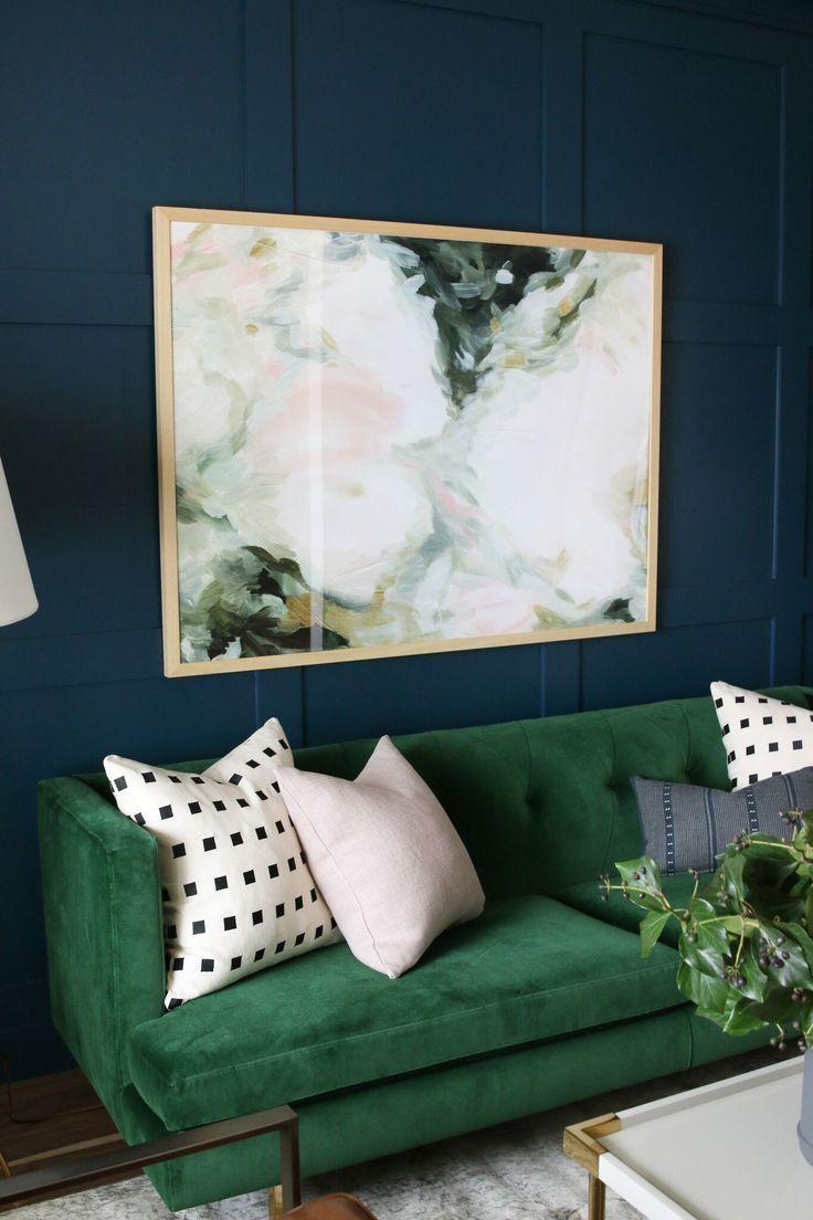 Best 25+ Green Couch Decor Ideas On Pinterest | Green Sofa, Velvet Regarding Wall Art For Green Walls (Image 8 of 20)
