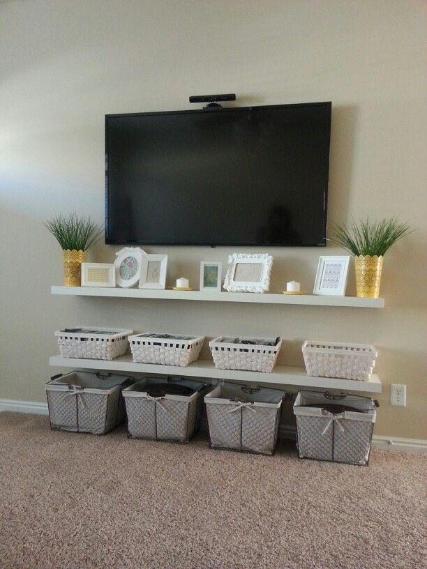 Best 25+ Hanging Tv On Wall Ideas On Pinterest | Tv On Wall Ideas With Regard To Most Up To Date Under Tv Cabinets (Image 11 of 20)