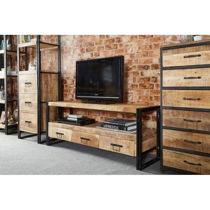 Best 25+ Industrial Tv Stand Ideas On Pinterest | Industrial Tv With Most Popular Metal And Wood Tv Stands (View 13 of 20)