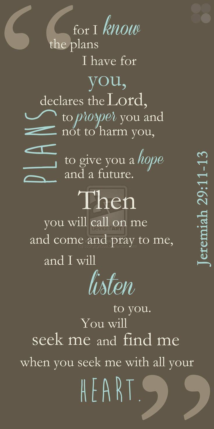 Best 25+ Jeremiah 29 11 13 Ideas On Pinterest | Jeremiah 29 11 14 Pertaining To Jeremiah 29 11 Wall Art (View 16 of 20)