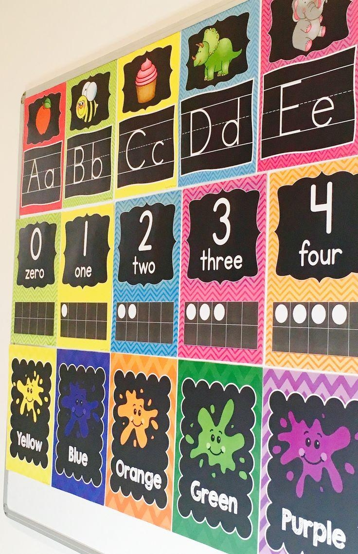 Classroom Mural Ideas ~ Choices of wall art for kindergarten classroom