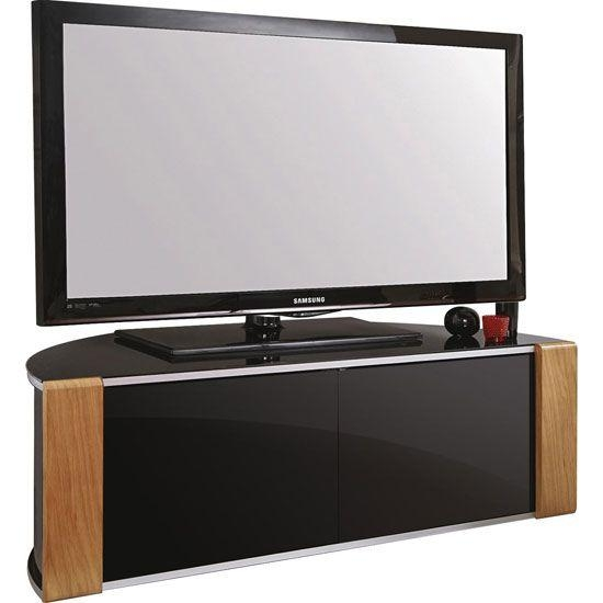Best 25+ Lcd Tv Stand Ideas On Pinterest | Television Cabinet, Lcd Throughout Latest Black Tv Stand With Glass Doors (Image 6 of 20)