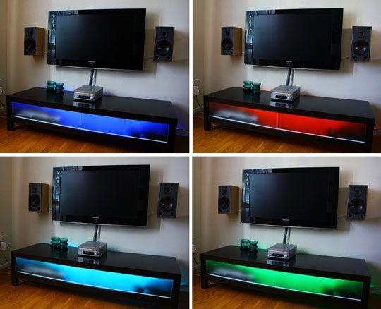 Best 25+ Led Tv Stand Ideas On Pinterest | Floating Tv Unit In Most Up To Date Tv Stands With Led Lights (Image 2 of 20)