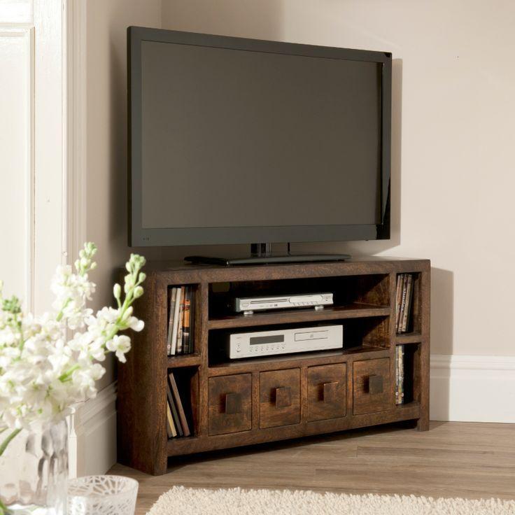 Best 25+ Living Room Tv Unit Ideas On Pinterest Regarding Most Recent Dark Brown Corner Tv Stands (Image 5 of 20)
