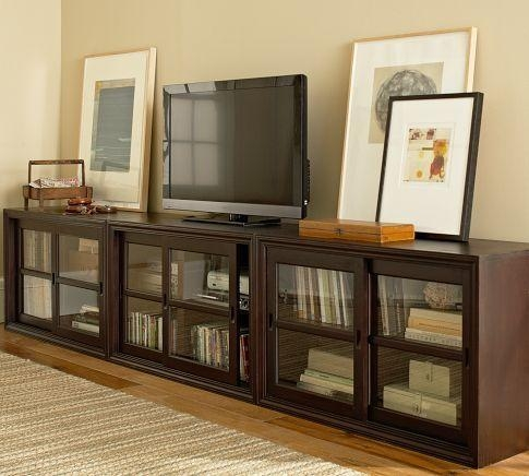 Best 25+ Long Tv Stand Ideas On Pinterest | Media Storage, Wall Within Most Recently Released Long Tv Cabinets Furniture (Image 6 of 20)
