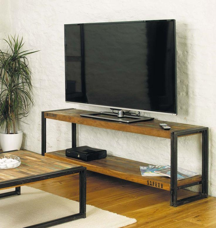 Best 25+ Metal Tv Stand Ideas On Pinterest | West Elm Console Intended For Latest Metal And Wood Tv Stands (View 16 of 20)
