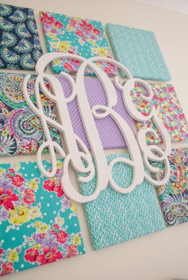 Best 25+ Monogram Wall Art Ideas On Pinterest | Pallet Wall Decor With Monogrammed Wall Art (Image 6 of 20)