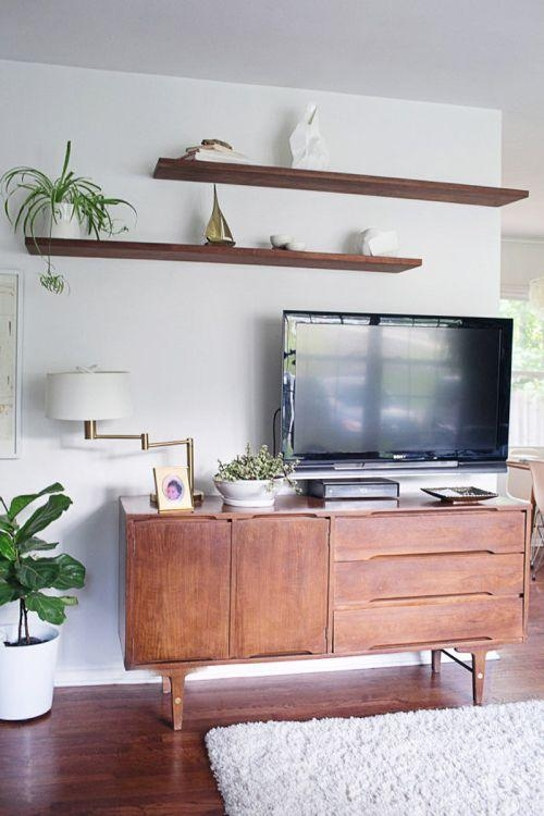 Best 25+ Mounted Tv Decor Ideas On Pinterest | Farmhouse Tv Stand Within Most Recent Over Tv Shelves (View 14 of 20)