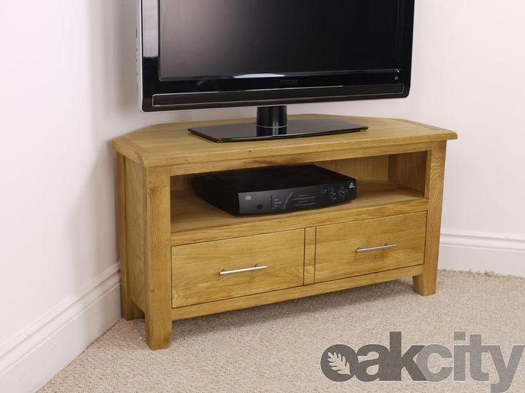 Best 25+ Oak Corner Tv Stand Ideas On Pinterest | Corner Tv within Latest Solid Wood Corner Tv Cabinets