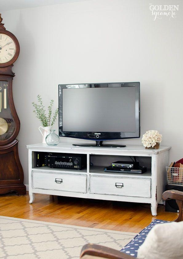 Best 25+ Painted Tv Stands Ideas On Pinterest | Tv Stand Furniture For Best And Newest White Painted Tv Cabinets (Image 7 of 20)