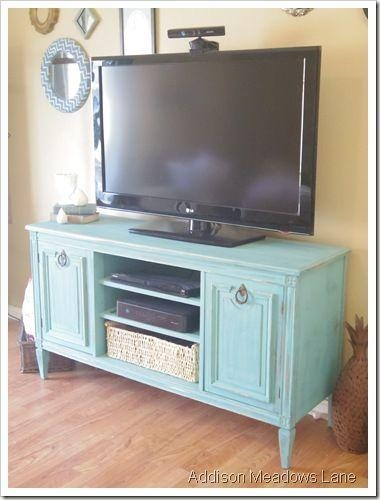 Best 25+ Painted Tv Stands Ideas On Pinterest | Tv Stand Furniture Inside Most Popular Green Tv Stands (Image 4 of 20)