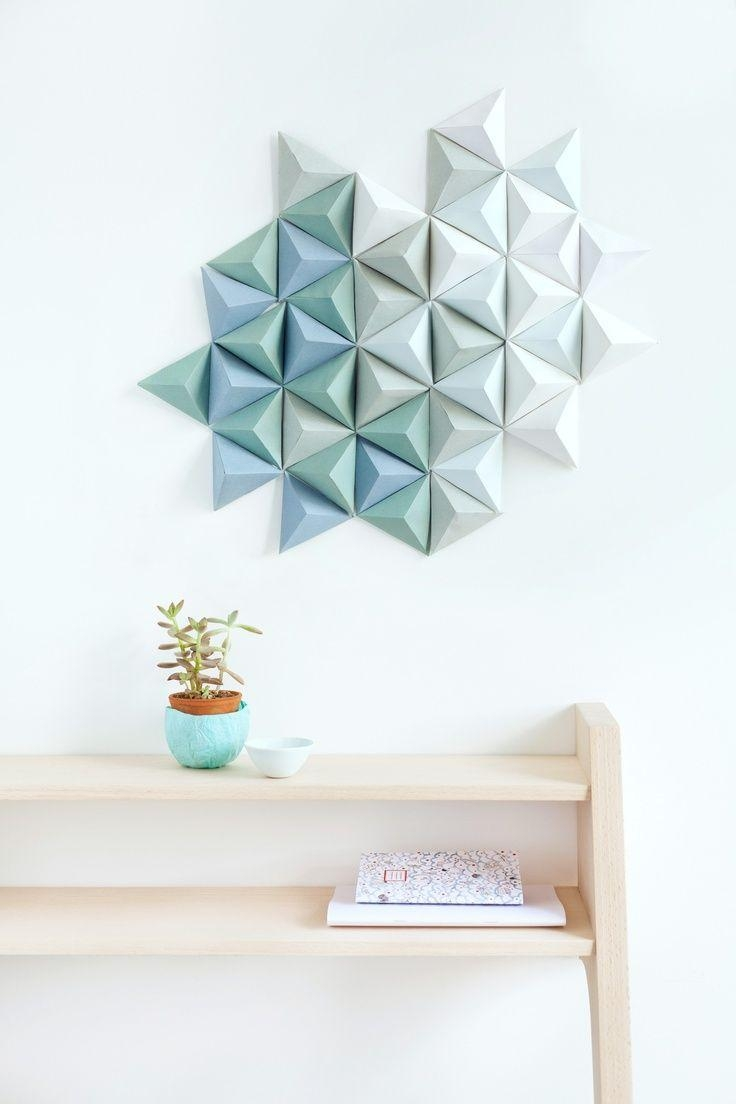 Best 25+ Paper Wall Decor Ideas On Pinterest | Diy Wall Flowers For Wall Art Teal Colour (Image 5 of 20)