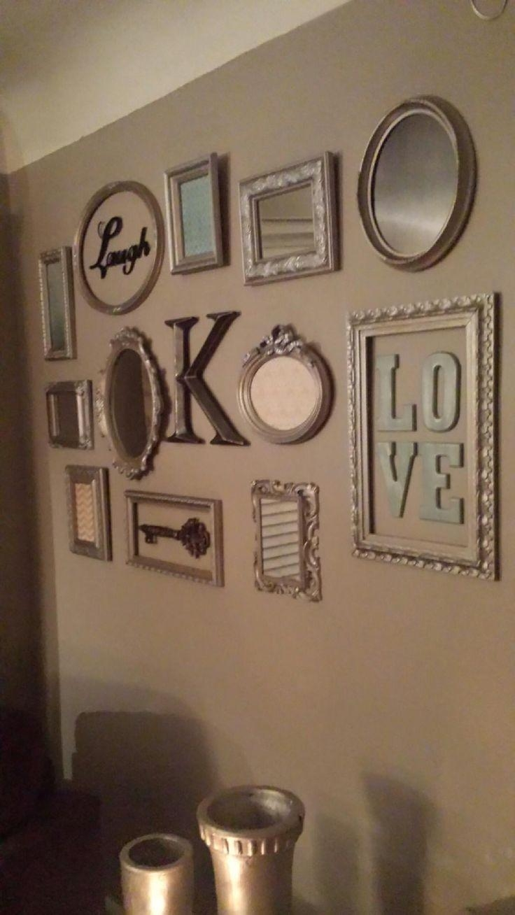 Best 25+ Picture Frame Arrangements Ideas On Pinterest | Wall With Regard To Family Wall Art Picture Frames (Image 3 of 20)