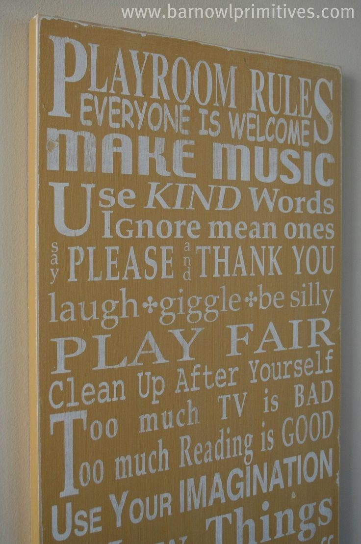 Best 25+ Playroom Rules Ideas On Pinterest | Playroom Decor For Playroom Rules Wall Art (Image 4 of 20)