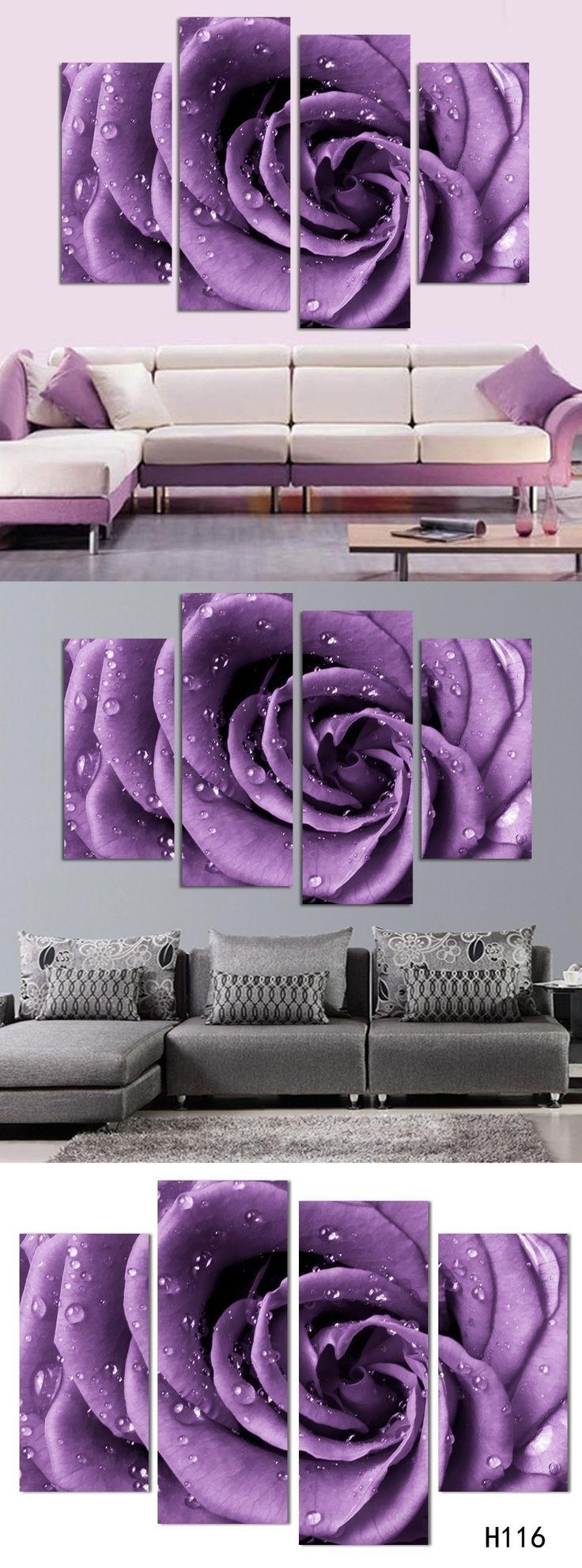 20 best collection of purple wall art for bedroom wall - Bedroom wall decor ideas pinterest ...